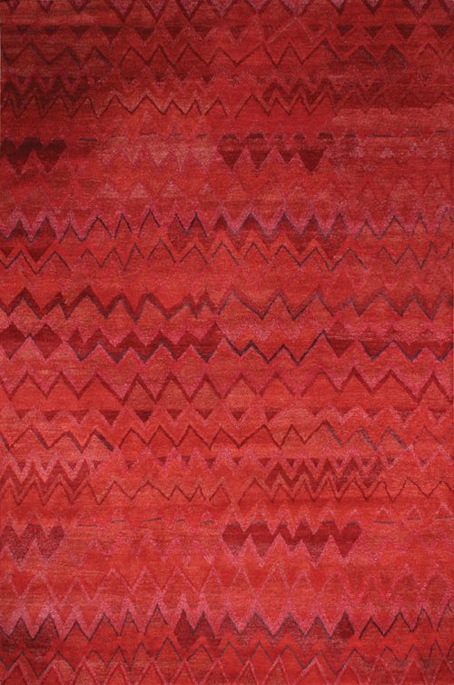 Bargello, red