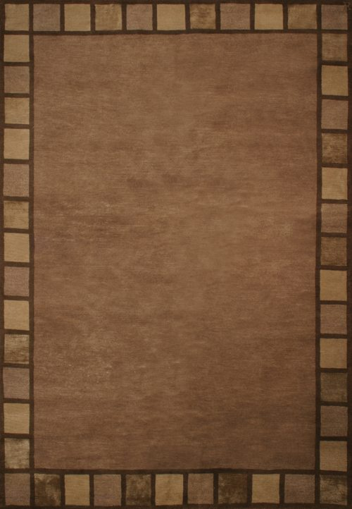 Basis, brown with block border
