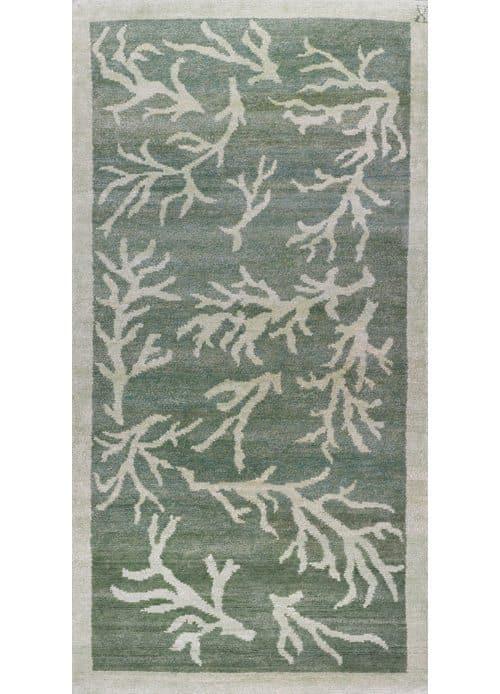 Coral Grande, dusty jade