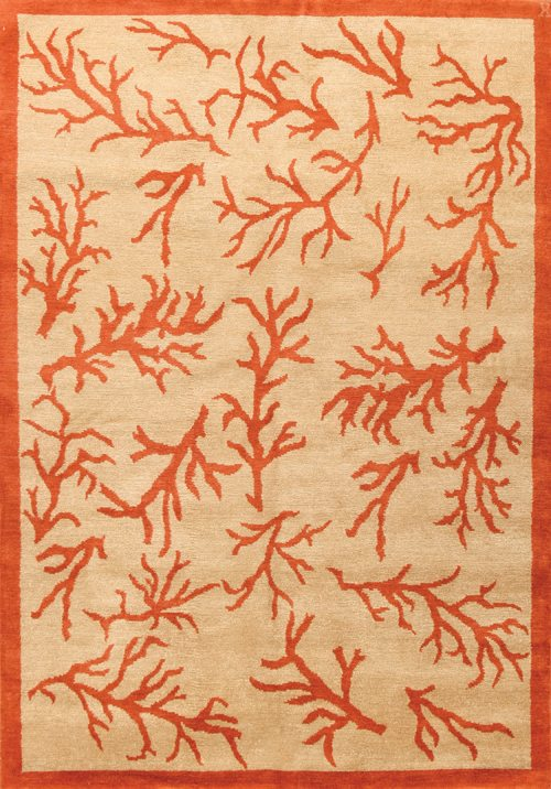 Coral Grande, parchment/coral