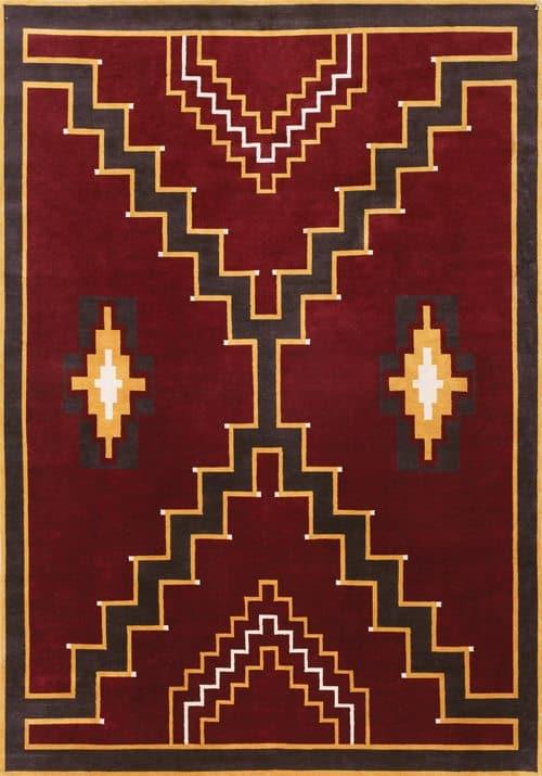 LW32J, maroon/ochre
