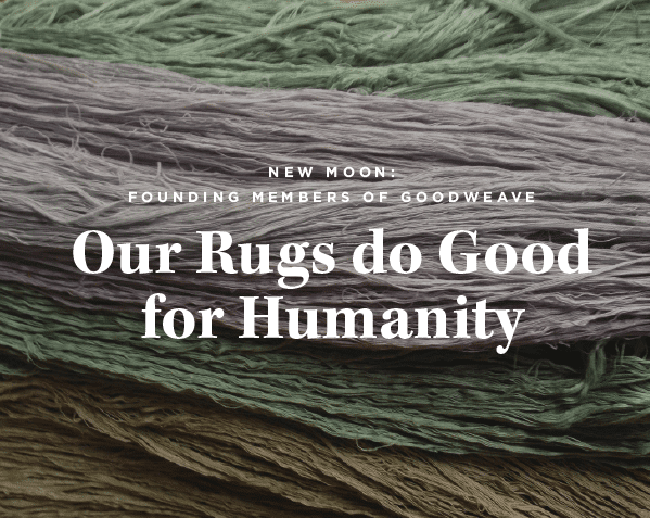 GoodWeave Ensures Moral Rug Making Standards